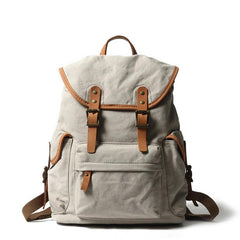Cute Canvas Womens Mens Classic 14'' Green Computer Backpack White Women's School Backpack Travel Backpack for Men