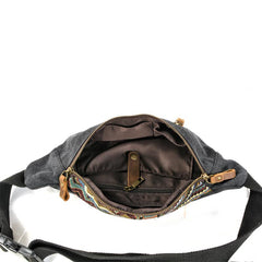 Cool Canvas Village Mens Sling Bag Chest Bag One Shoulder Backpack for Men