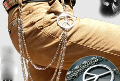 Sliver biker trucker punk peace hook wallet Chain for chain wallet biker wallet trucker wallet