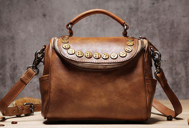 Handmade Leather handbag phone bag purse for women leather shoulder bag crossbody bag