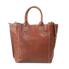 Womens Shopper Bag Leather Tote Bag With Zipper - Annie Jewel