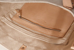 Handmade Canvas Leather purse handbag shoulder bag for women leather tote bag