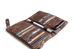 Cool Genuine leather long wallet for men phone clutch Long wallets for men