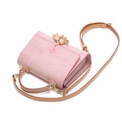 Lovely Handmade Leather Womens SMall Purse Handbags Shoulder Bags for Women