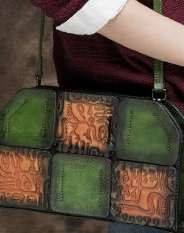 Handmade Leather crossbody purse shoulder bag for women leather