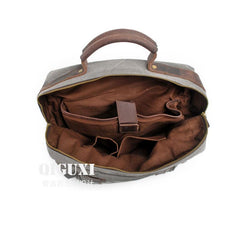 Mens Canvas Leather Backpack Canvas Hiking Backpack Canvas Travel Backpack for Men