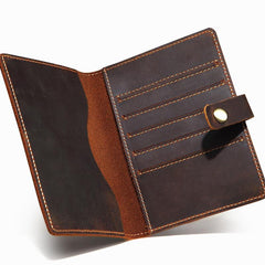 Slim Mens Small Bifold Travel Wallet Short Wallet Passport Wallet for Men