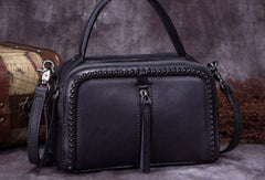 Vintage Leather Handbag Tassel Shoulder Bag Crossbody Bag Purses For Women