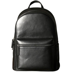 Leather Mens Large Cool Backpack Black Travel Backpack Hiking Backpack for men