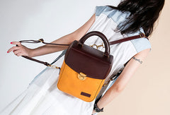 Genuine Leather Backpack Handmade Handbag Bag Shoulder Bag Purse For Women