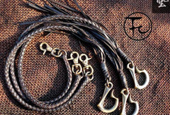 Leather trucker wallet Chain biker wallet Chain for chain wallet with dragon hook