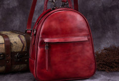 Vintage Womens Leather Backpack School Backpacks Purse Small Backpack For Women