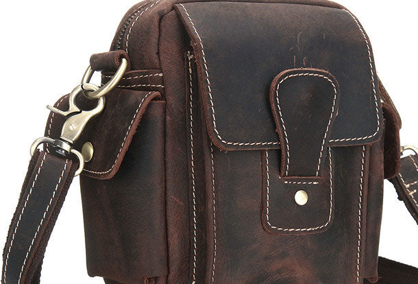 variety of designs and colors hot-selling clearance select for authentic Cool Mens Leather Chest Bags Sling Bag Sling pack Shoulder Sling bags For  Men