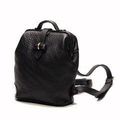 Vintage LEATHER WOMEN Doctor Backpack Purses Black School Backpacks FOR WOMEN