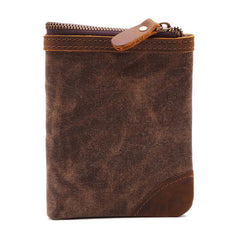 Mens Canvas Small Wallet for men Bifold Cool Men billfold Small Wallet