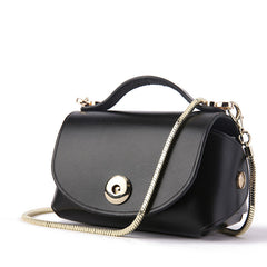 Cute Leather Womens Mini Chain Purse Makeup Handbags Tiny Chain Shoulder Bags for Women