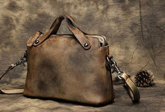 Handmade Leather crossbody purse shoulder bag for women leather clutch