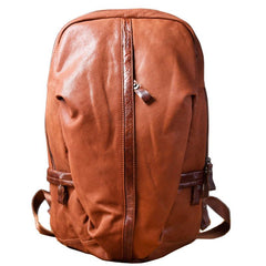 Genuine Leather Mens Cool Backpack Sling Bag Large Travel Bag Hiking Bag for men