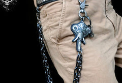 Sliver biker trucker punk elephant hook wallet Chain for chain wallet biker wallet trucker wallet