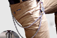 Sliver biker trucker punk hook wallet Chain for chain wallet biker wallet trucker wallet