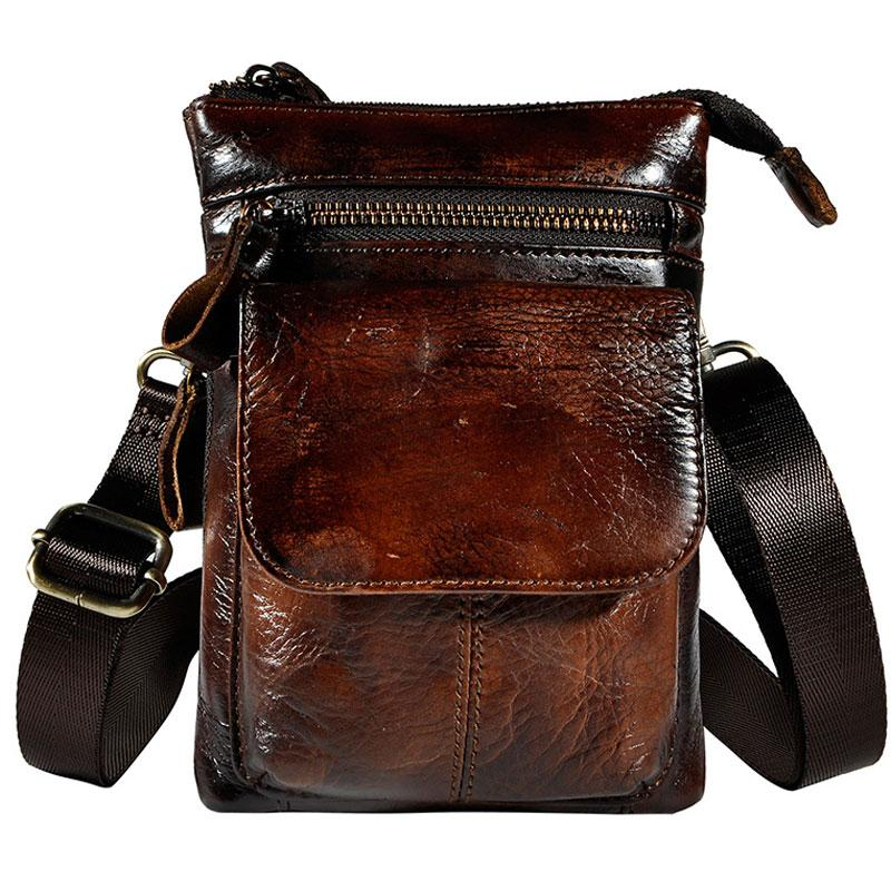 7742dd3a79b1 Previous. Next.  59.00 59.00. Overview  Design  Mens Leather Small Side Bag  Waist Pouch Holster COURIER BAG Belt Case ...