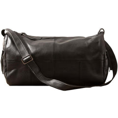 Cool Black Leather Mens Weekender Bag Travel Bags Shoulder Bags for men