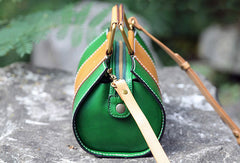 Handmade handbag cute purse leather crossbody bag shoulder bag women