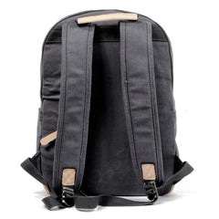 Waxed Canvas Womens Mens Backpack 14'' Green College White Backpack Travel Backpack For Men
