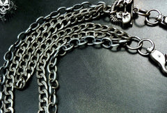 Sliver biker trucker punk skull hook wallet Chain for chain wallet biker wallet trucker wallet