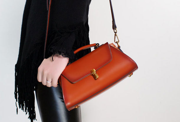 Genuine Leather handbag purse shoulder bag for women leather crossbody bag