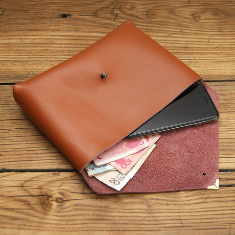 Fashion LEATHER Womens Clutch ENVELOPE Wallet Leather Clutch Purse FOR Women