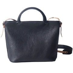 Handmade Black Leather Womens Handbag Fashion Shoulder Bag for Women