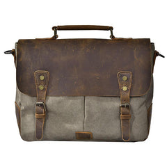 Waxed Canvas Leather Mens 14