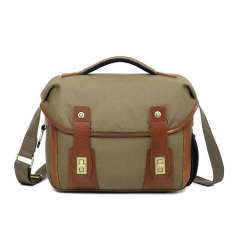 Mens Canvas Camera Messenger Bag Side Bag Courier Bag Camera Shoulder Bag for Men