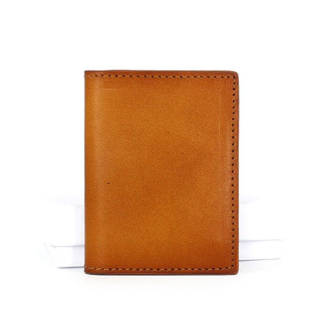 Leather Mens Front Pocket Wallet Small Card Wallet Change Wallets for Men