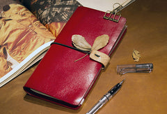 Handmade vintage leather notebook travel book diary journal