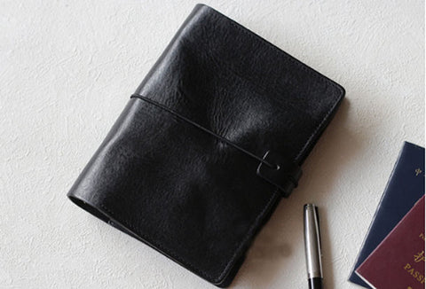 Handmade Genuine leather travel wallet passport journal notebook purse long wallet women
