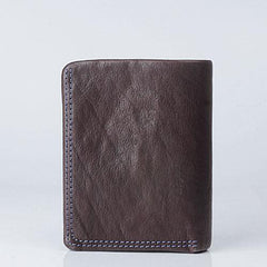 Cool Leather Mens Small Leather Wallet Men Bifold Short Wallets for Men