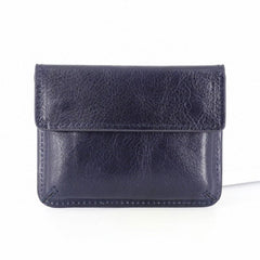 Leather Mens Card Wallet Slim Front Pocket Wallet Small Change Wallets for Men
