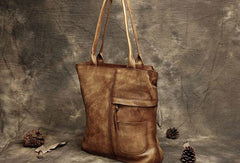Handmade Leather handbag tote purse shoulder bag for women leather shopper bag
