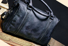 Genuine Handmade Vintage Leather Handbag Shoulder Bag Women Leather Purse