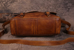 Genuine Leather Mens Cool Messenger Bag iPad Bag Chest Bag Bike Bag Cycling Bag for men