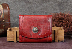 Genuine Leather Wallet Folded billfold Wallet Vintage Wallet Purse For Women Men