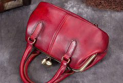 Genuine Leather Handbag Vintage Bag Shoulder Bag Crossbody Bag Clutch Purse For Women