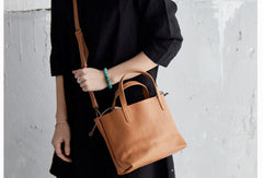 Handmade Leather Handbag Tote Bag Purse Crossbody Bag Shoulder Purse For Women