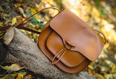 Handmade Genuine Leather Saddle Bag Purse Crossbody Bag Shoulder Bag Purse For Women