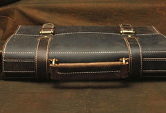 Vintage Leather Messenger Bag Briefcase Handbag Shoulder Bag For Men