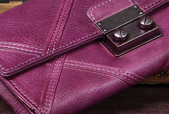 Genuine Leather Wallet Folded Long Wallet Vintage Assorted Colors Wallet Purse Clutch For Women