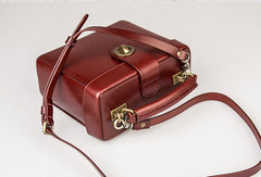 Genuine Leather Handbag Box Cabinet Crossbody Bag Shoulder Bag Purse For Women