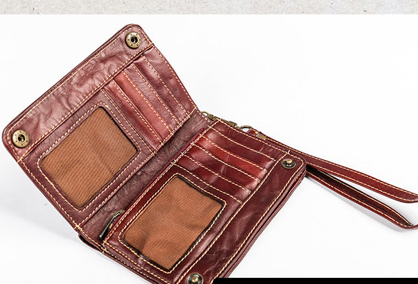 Slim Personalized Handmade Leather Made to Order Simple Customized EDC BlueNavy Tochigi Classic Embossed Bifold Wallet